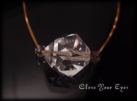ハイパージュエリーネックレス 水晶 正二十面体 画像1