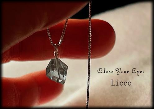 Licco アクアマリンネックレス フリーカット