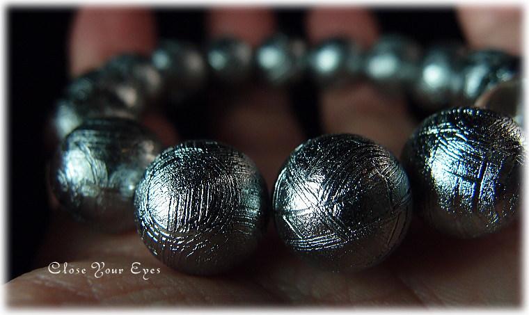 レアな石達 ハイパーエナジーブレス アイアンメテオライト(鉄隕石) ムオニオナルスタ隕石 12ミリ玉